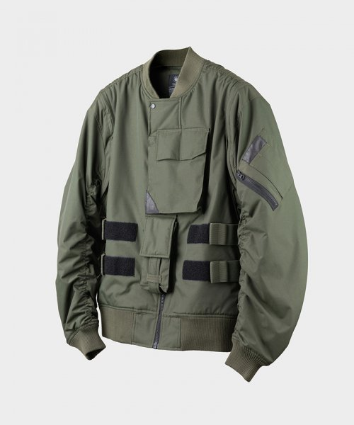 게릴라그룹(GUERRILLA GROUP) RE-REPRODUCTION 04 FLAK VEST MA-1 / OLIVE