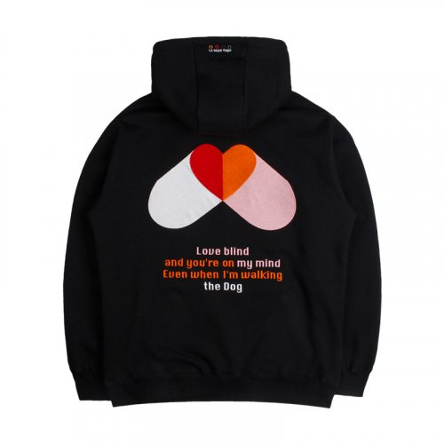 라모드치프(LAMODECHIEF) LAMC PILL HEART HOODY (BLACK)