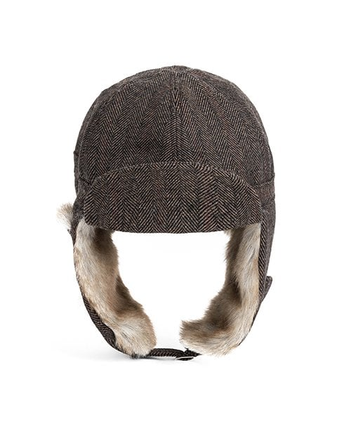 와일드 브릭스(WILD BRICKS) HERRINGBONE TRAPPER HAT(brown)