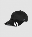 바이브레이트(VIBRATE) BLACK LINE - VINTAGE HAND PAINT BALL CAP (black)