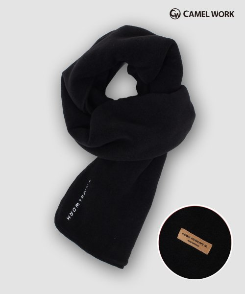 카멜워크(CAMEL WORK) Reversible Fleece Muffler(Black)