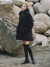 노미나떼(NOMINATE) [Italian Wool] NEW A-line HALF COAT NAVY