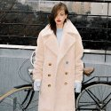 노미나떼(NOMINATE) FAKE WOOL FUR COAT BEIGE (WOMEN)