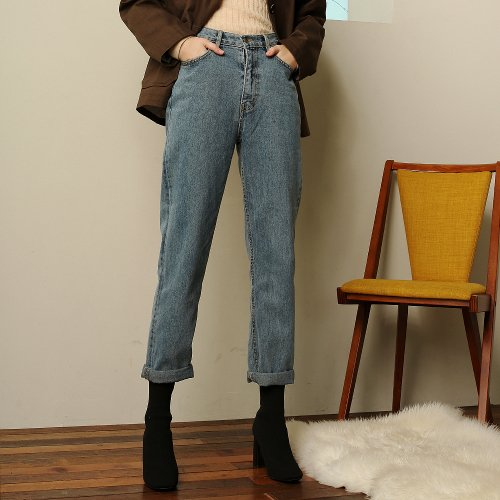 이쁘다 양장점(EBBUDA BOUTIQ) baggy turn-up denim