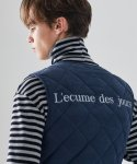 러브이즈트루(LUV IS TRUE) (UNISEX)MO QUILTING VEST(NAVY)