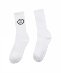 러브이즈트루(LUV IS TRUE) (UNISEX)DS CIRCLE LOGO SOCKS(BLACK)