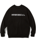 유니폼브릿지(UNIFORM BRIDGE) og logo sweat shirts black