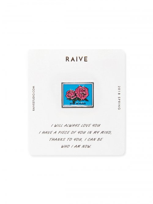 레이브(RAIVE) Square Rose Badge (Metal)_VX8XX0010