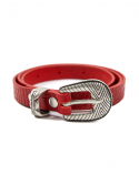 레이브(RAIVE) Patterned Leather Belt in Red_VX0ST0800