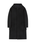 [IN SILENCE X GEAR3] OVERSIZED HOODED COAT (black)