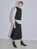 모어올레스() WOOL LONG SKIRT - DEEP KHAKI