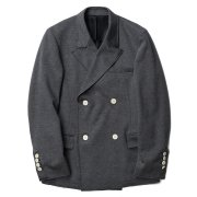 오파츠(OOPARTS) Bonded Double-Breasted Jacket Grey