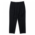 Two-Tuck Bonded Trousers Black