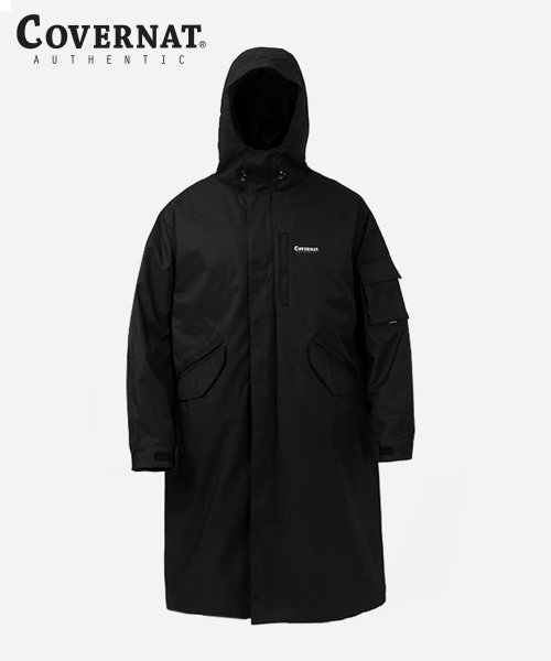 커버낫(COVERNAT) C/P TWILL FISHTAIL PARKA BLACK