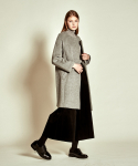 더케이스토리(THEKSTORY) Simple Zip up Wool Coat_ Grey