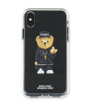 스티그마(STIGMA) PHONE CASE COMPTON BEAR CLEAR iPHONE Xs / Xs MAX / Xr