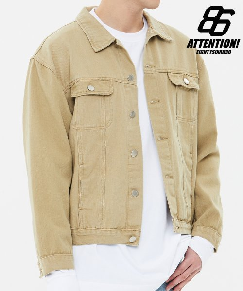86로드(86ROAD) STANDARD TRUCKER JACKET(Beige)