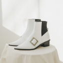 로우어() LWW18-2-2 Easy Buckle Boots [white]