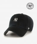 47브랜드() NY Small Logo Base Runner 47 CLEAN UP Black
