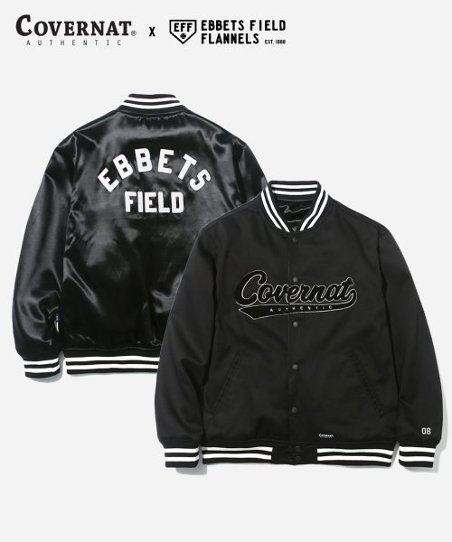 커버낫(COVERNAT) COVERNAT X EFF REVERSIBLE SATIN B.B JACKET BLACK
