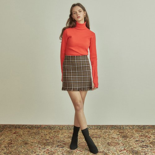 언에디트(ANEDIT) R CHECK MINI SKIRT_BK