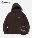 커버낫(COVERNAT) SMALL AUTHENTIC LOGO HOODIE BROWN