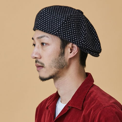 밀리어네어햇(MILLIONAIRE HATS) WHITE DOT WOOL - BIGAPPLE HAT