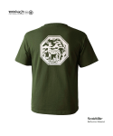 "모노파틴(MONOPATIN) night light ""deer"" scotchlite octagon logo t shirt – military green/white"