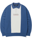 엘엠씨(LMC) LMC COLLAR QUARTER ZIP SWEATSHIRT vtg blue