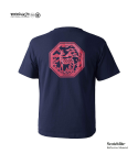 "모노파틴(MONOPATIN) night light ""deer"" scotchlite octagon logo t shirt –navy/red"
