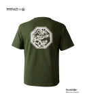 "모노파틴(MONOPATIN) night light ""sparrow"" scotchlite octagon logo t shirt – military green/white"