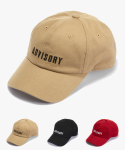 어드바이저리() ADVISORY Logo Ball Cap - Beige/Red/Black