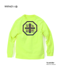 모노파틴(MONOPATIN) night light scotchlite OG octagon logo shirt – safety green/reflective rainbow