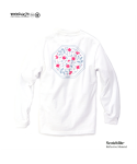 "모노파틴(MONOPATIN) night light ""flower"" scotchlite octagon logo shirt – white/pink"