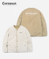 REVERSIBLE NOCOLLAR FLEECE JACKET BEIGE