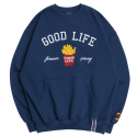 로맨틱크라운() 10th Good Life Sweat Shirt_Blue