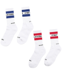 러브이즈트루 스트릿() [2 SET] LIT/S STREET LINE SOCKS (RED/BLUE)