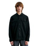 라이풀(LIFUL) WASHED POCKET SHIRT black
