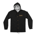 안티히어로(ANTI HERO) STOCK EAGLE HOODED COACHES JACKET - BLACK