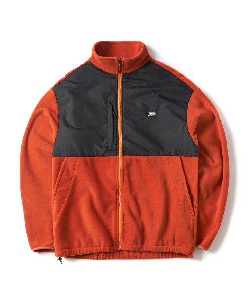 크리틱(CRITIC) FLEECE ZIP-UP JACKET(ORANGE)_CTONPJK02UO0