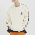 로맨틱크라운(ROMANTIC CROWN) E.D.V Half Jacquard Crewneck_Oatmeal