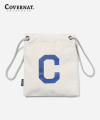 C LOGO ECO POUCH BAG WHITE