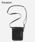 커버낫(COVERNAT) AUTHENTIC LOGO 2WAY SACOCHE BAG BLACK