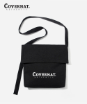 커버낫(COVERNAT) AUTHENTIC LOGO FLAP SHOULDER BAG BLACK