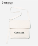 커버낫(COVERNAT) AUTHENTIC LOGO FLAP SHOULDER BAG WHITE