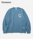 커버낫(COVERNAT) C LOGO CREWNECK LIGHT BLUE