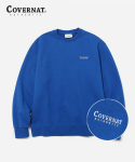 커버낫(COVERNAT) SMALL AUTHENTIC LOGO CREWNECK ROYAL BLUE