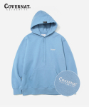 커버낫(COVERNAT) SMALL AUTHENTIC LOGO HOODIE LIGHT BLUE