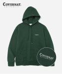 커버낫(COVERNAT) SMALL AUTHENTIC LOGO HOODIE GREEN