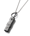 CRITIC WHISTLE NECKLACE(GUN METAL)_CTONPAC01UC1